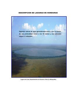 DESCRIPCION DE LAGUNAS DE HONDURAS