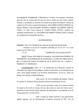 Acuerdo N° 32/2015 - Poder Judicial de Corrientes