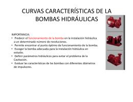 CURVAS CARACTERÍSTICAS DE LA BOMBAS HIDRÁULICAS