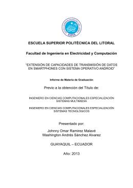 ESCUELA SUPERIOR POLITÉCNICA DEL LITORAL Facultad