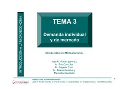 TEMA 3. La demanda individual y de mercado - OCW-UV