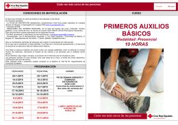 primeros auxilios básicos - Cruz Roja Española