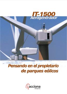 El aerogenerador IT-1500