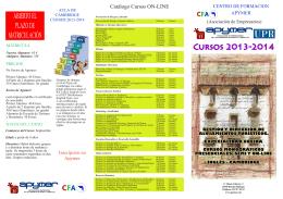 Cursos 2013-2014 ABIERTO EL PLAZO DE