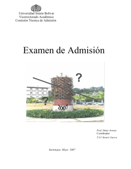 Examen de Admisión - Universidad Simón Bolívar