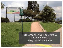REDISEÑO PISTA DE TROTE Y PISTA DE CICLO
