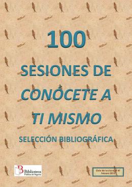 Guía de lectura 100 sesiones Conócete