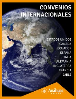 CONVENIOS INTERNACIONALES - Universidad Anáhuac Xalapa