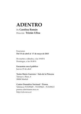 DOSIER ADENTRO - Centro Dramático Nacional