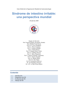 Síndrome de intestino irritable: una perspectiva mundial