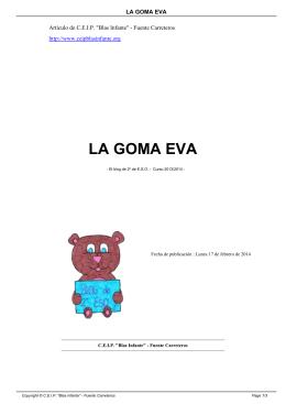 """LA GOMA EVA - CEIP """"Blas Infante"""""""