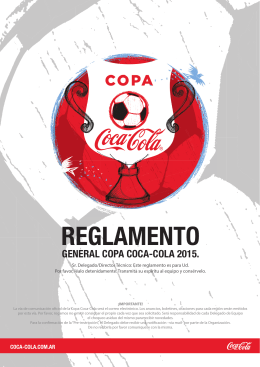 general copa coca-cola 2015. - Copa Coca