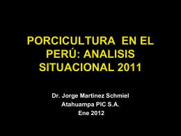 PORCICULTURA TECNIFICADA EN EL PERÚ