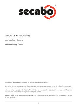 MANUAL DE INSTRUCCIONES para los ploters de corte Secabo