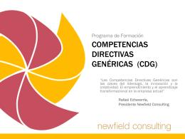 COMPETENCIAS DIRECTIVAS GENÉRICAS (CDG)