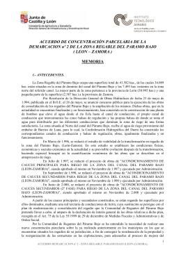 ACUERDO DE CONCENTRACIÓN PARCELARIA DE LA