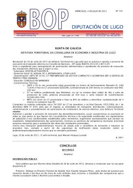 XUNTA DE GALICIA CONCELLOS