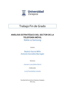 Trabajo Fin de Grado - Universidad de Zaragoza