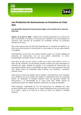 Los Productos de Kukuxumusu en Exclusiva en Club Zed