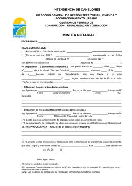 minuta notarial - Comuna Canaria