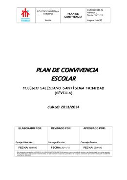 PLAN CONVIVENCIA 2013-2014