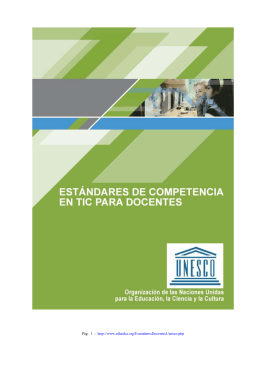 Estándares de competencia en TIC para docentes