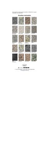 catálogo pdf de granito y mármoles para encimeras o