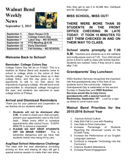 Walnut Bend Weekly News