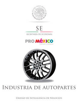 Industria de autopartes - Mapa de Inversión en México