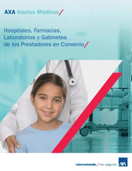 Red de prestadores Hospitales, Farmacias, Laboratorios AXA