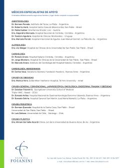 ESPECIALISTAS 00 - clinica foianini