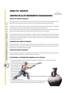 kung-fu shaolin centro de alto redimiento dharananda