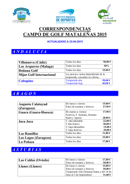 Listado 2015 - Club de Golf Mataleñas