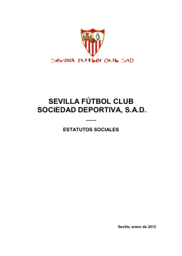 Estatutos Sevilla Fútbol Club