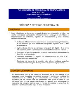 práctica 2: sistemas secuenciales - Arquitectura y Tecnología de