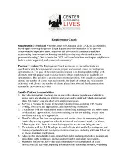 Employment Coach - Humboldt Park Portal