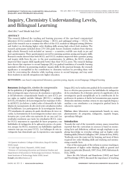 Inquiry, Chemistry Understanding Levels, and Bilingual Learning