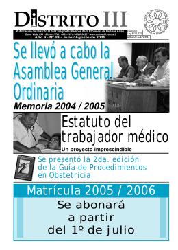 Boletín Nº 69 - Colegio de Medicos Distrito III