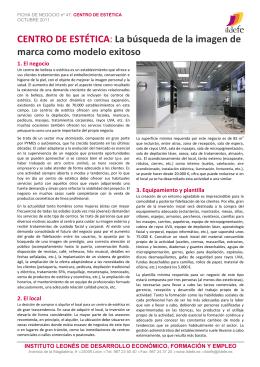 CENTRO DE ESTÉTICA - Instituto Leonés de Desarrollo Económico