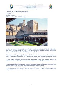 Catedral de Santa Maria de Urgell