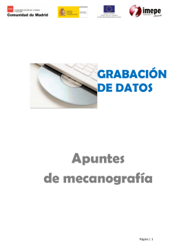 Apuntes mecanografía