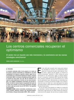 Los centros comerciales recuperan el optimismo