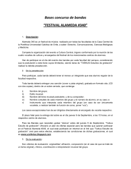 "Bases concurso de bandas ""FESTIVAL ALAMEDA #340"""