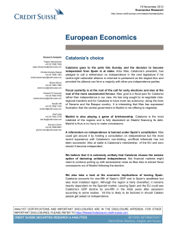 European Economics - Credit Suisse | PLUS