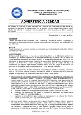 ADVERTENCIA 062/DAG