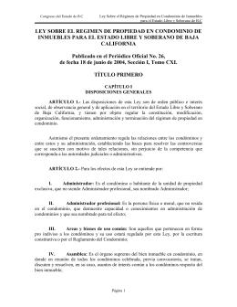 Ley Sobre el Régimen de Propiedad en Condominio