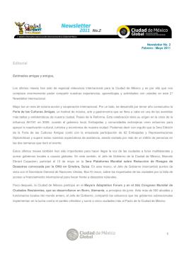 Editorial - CGMA - Gobierno del Distrito Federal