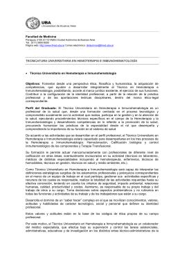 Plan de estudios - Universidad de Buenos Aires
