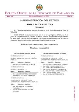 boletín oficial de la provincia de valladolid
