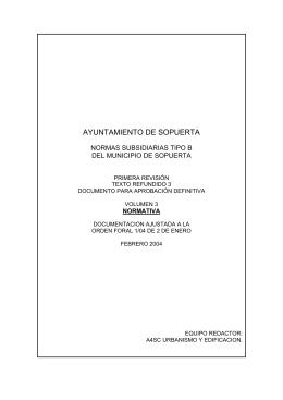 Normativas (PDF 298KB) - Ayuntamiento de Sopuerta
